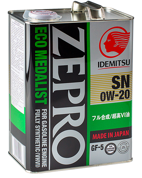 Масло моторное Idemitsu Zepro Eco Medalist 0w-20, 4л